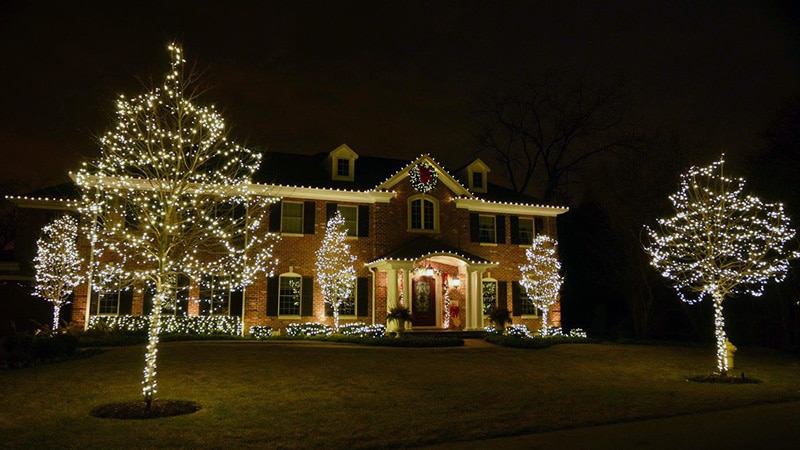 Northern Holiday Lighting Chicagoland Residential